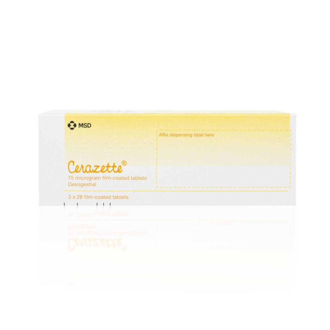 Cerazette Mini Pill 75mcg - Buy Online from UK Doctor Service