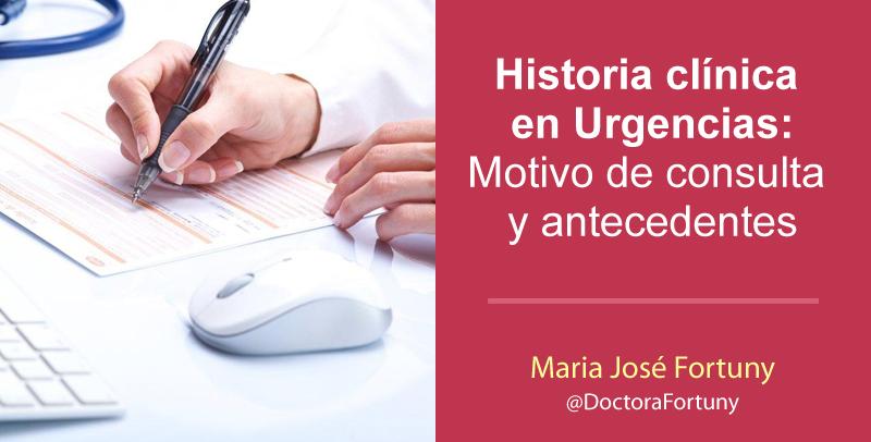 Historia clínica en Urgencias: Motivo de consulta y antecedentes