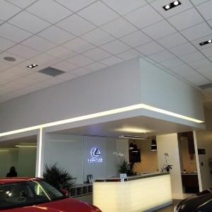 Lexus Showroom Feature Bulkhead
