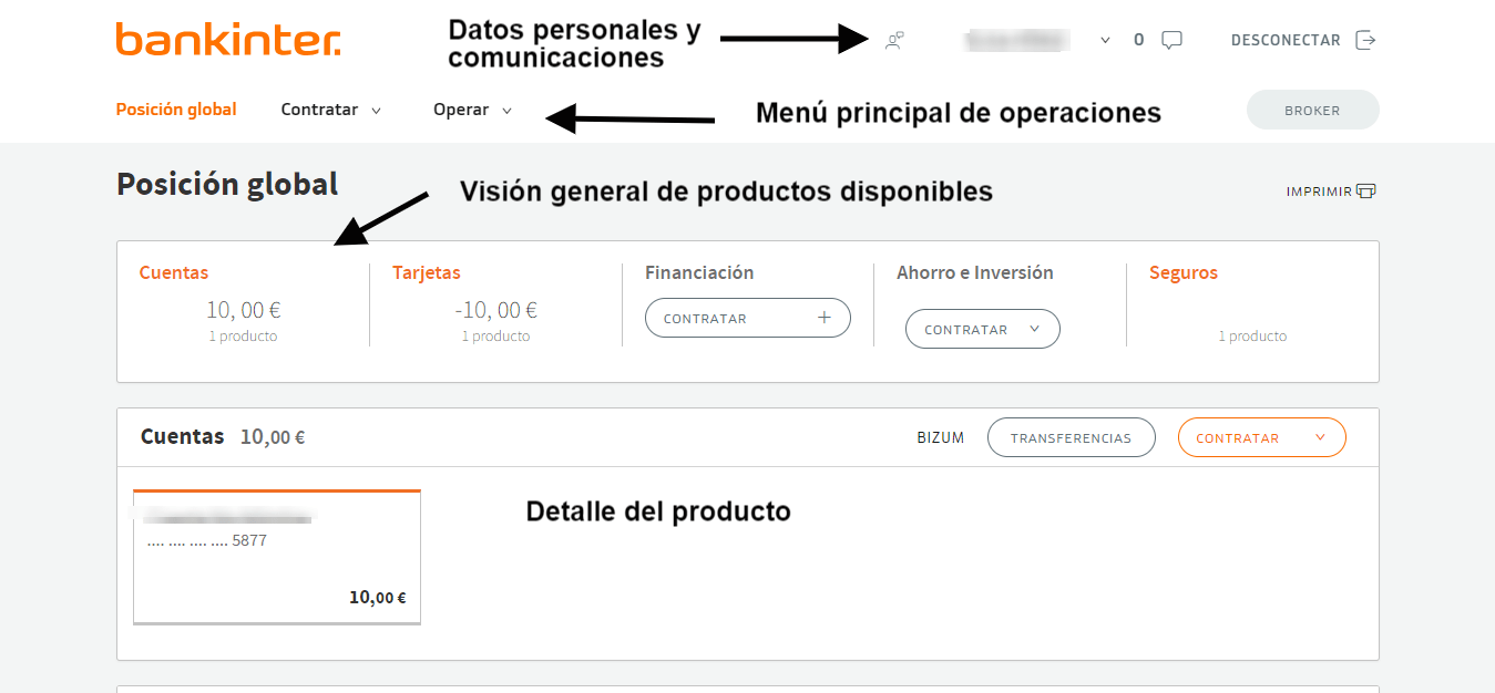 interfaz cuenta nomina bankinter