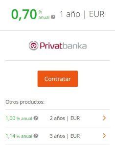 depositos privatbanka