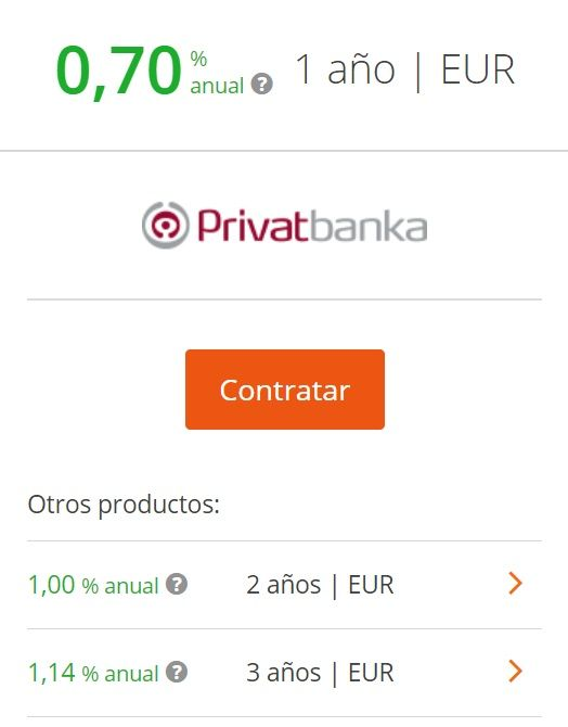 depositos privatbanka