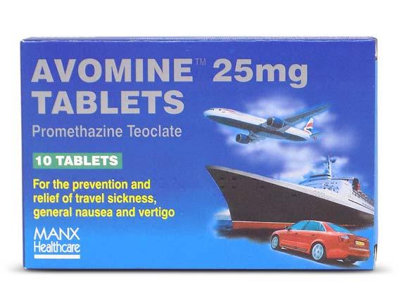 Buy Avomine Tablets Online for Travel Sickness £6.20 - Dr Fox