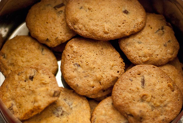 Cookies con trozos de chocolate