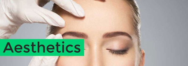 Aesthetic Medicine used for aging on patient face