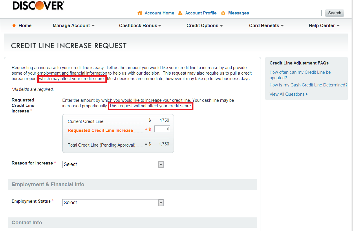 when to request credit limit increase
