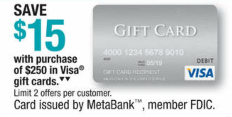 expired officemax 15 off 250 visa giftcards free money - 15 Visa Gift Card