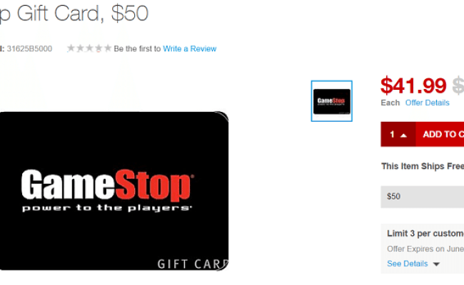 50 Gift Cards For 42 At Staples Gamestop Petco