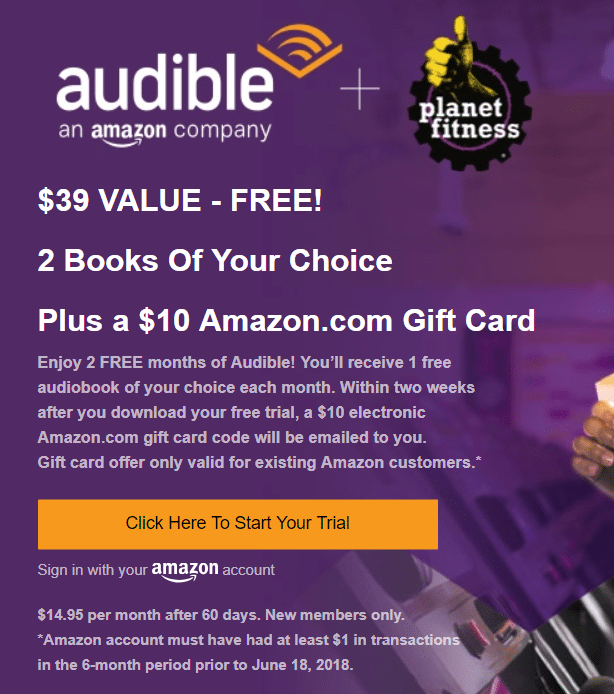 Audible Gift Giftsite