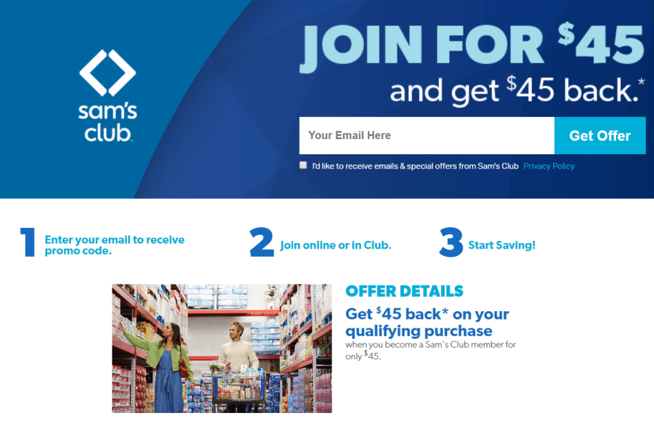 Sam's Club: Join For $45 & Get $45 (Money Maker After Stacking ...