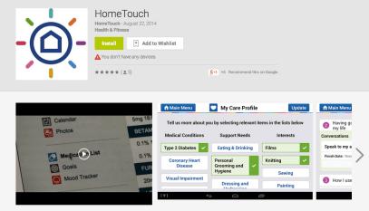 hometouch app screenshot