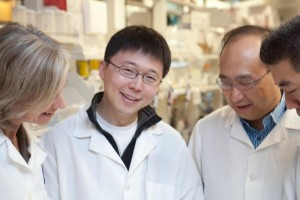3 of the 5 Founders of Editas Medicine (from left to right) - Jennifer Doudna, Ph.D., Feng Zhang, Ph.D., and Keith Joung, M.D., Ph.D. Source: http://www.editasmedicine.com/
