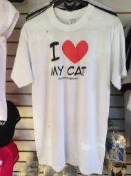 Camiseta I love my cat