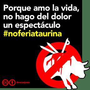 Imagen antitaurina para Instafram y Facebook
