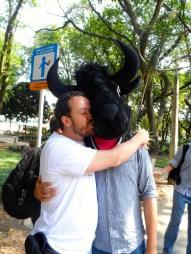 Amamos a los toros en la Caravana Antitaurina en Medellín