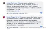 Comentario redes Carlos Tobón sobre abandono de perrita en El Retiro.