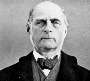 Sir Francis Galton during a moment of levity