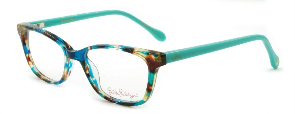 Lilly Pulitzer Livie glasses that Brad chose. Truquoise tortishell.