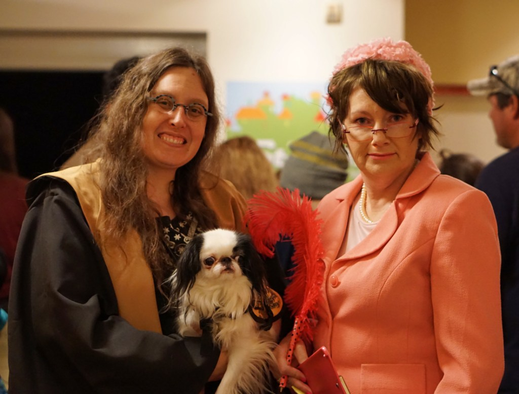 Veronica and Hestia with Professor Umbridge