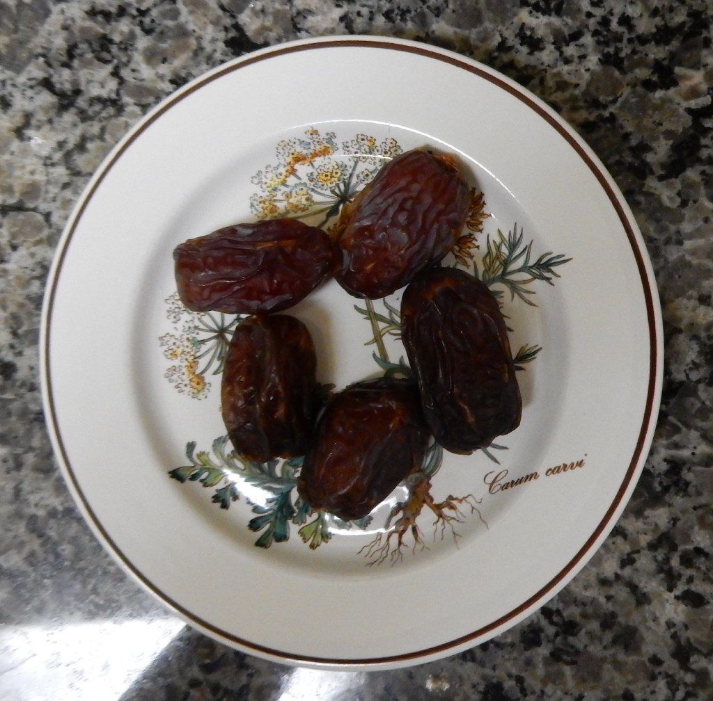 Dessert:  Four or five dates (there are five in this picture!).