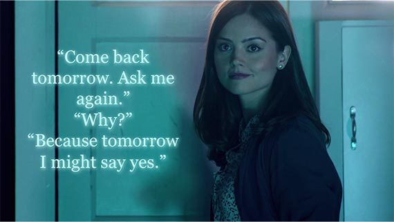 Image result for clara oswald tomorrow i might say yes