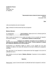 Modele Lettre De Recommandation Locataire