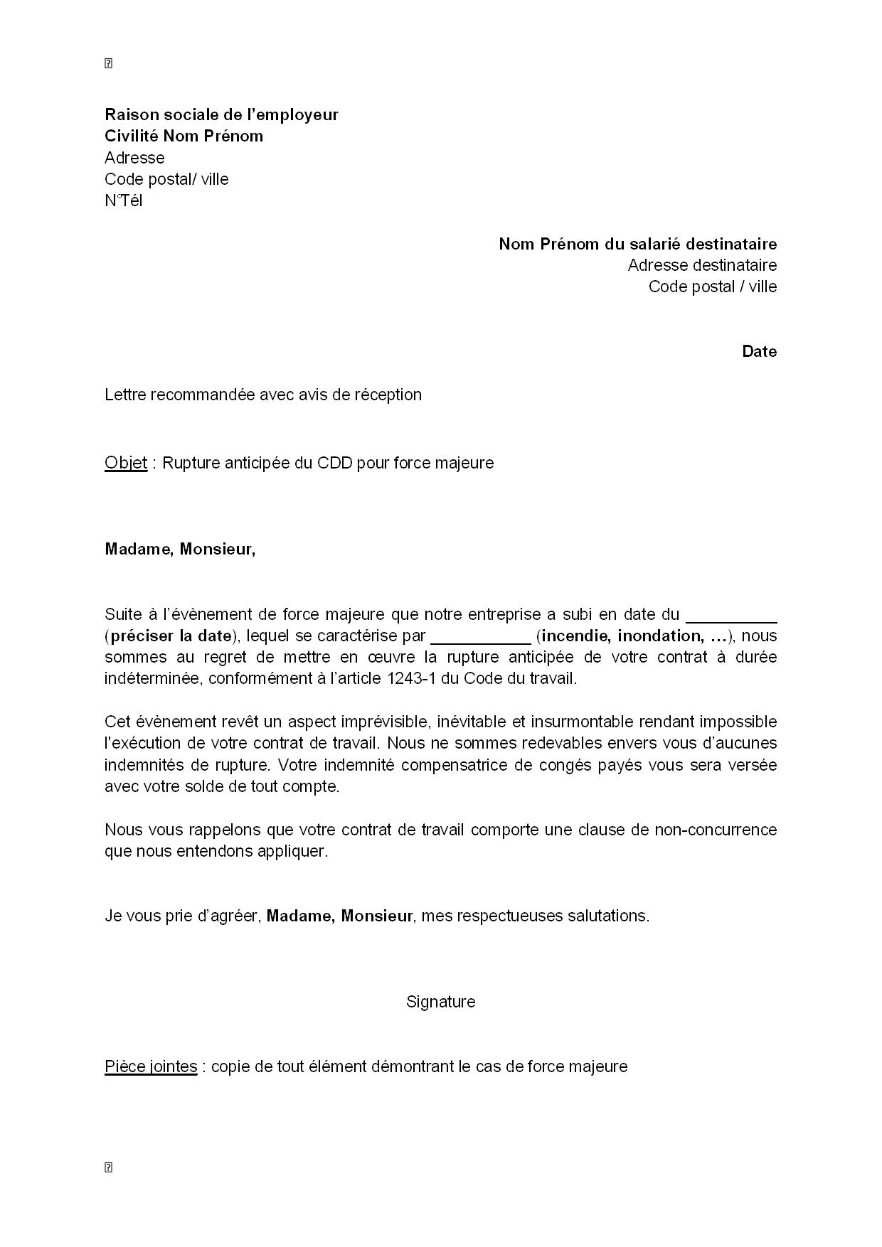 meilleur la lettre administrative modele de lettre