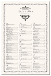 Wedding Seating Chart Examples, Templates and Designs