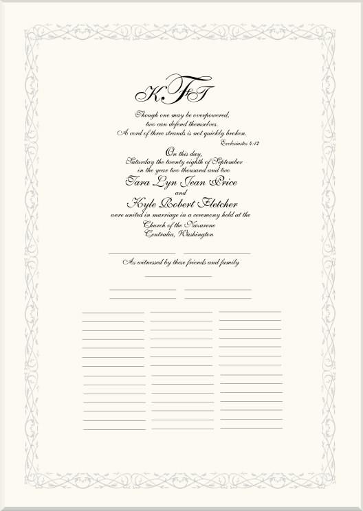 Celtic Marriage Certificates-Wedding Certificate-Quaker