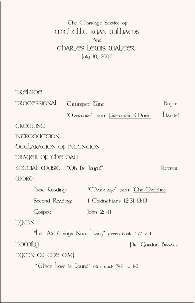 examples of church programs