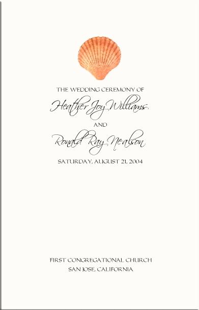 Beach Wedding Programs-Tropical Wedding Directories-Order