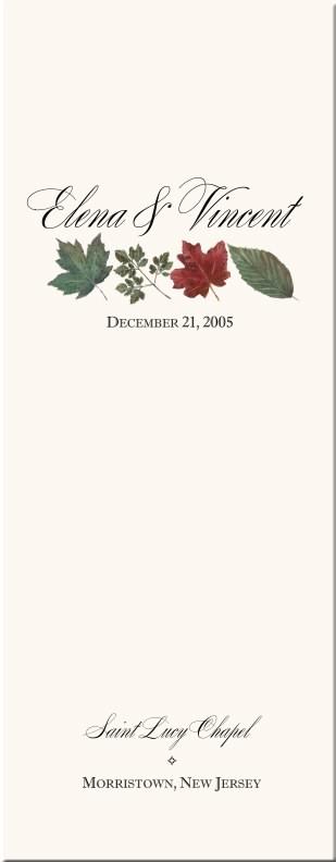 Winter Theme Wedding Program-Snowflake Church Directory