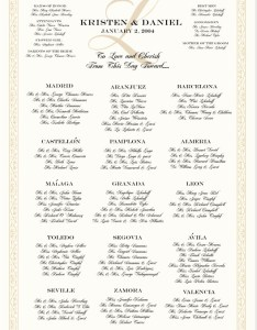 Celtic leaf border wedding seating chart monogram custom charts reception guest also rh documentsanddesigns