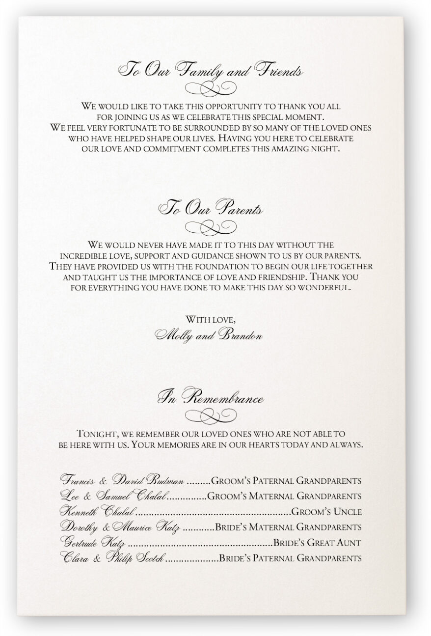 Hand of Miriam Jewish Wedding Ceremony Programs with Hamsa