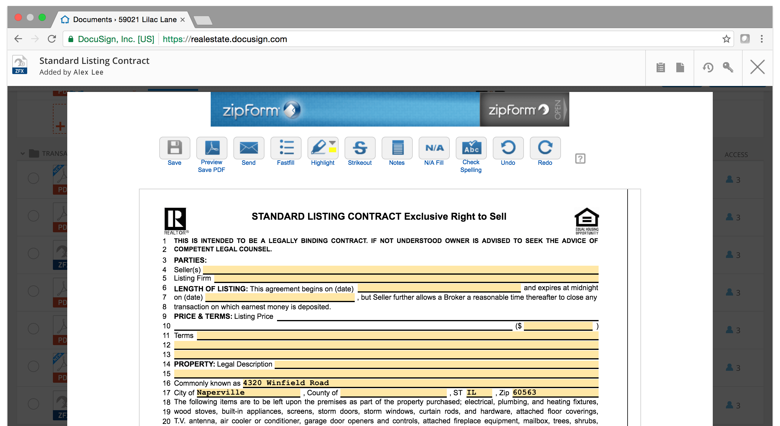 Real Estate Transaction Management  DocuSign
