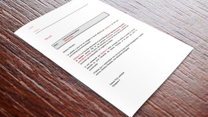 Lettre de recommandation pour sous-traitant ou sous-traitante