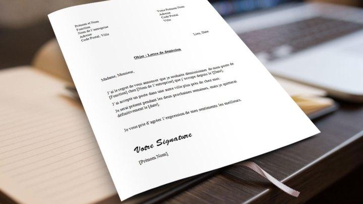 Lettre de démission pour le Québec