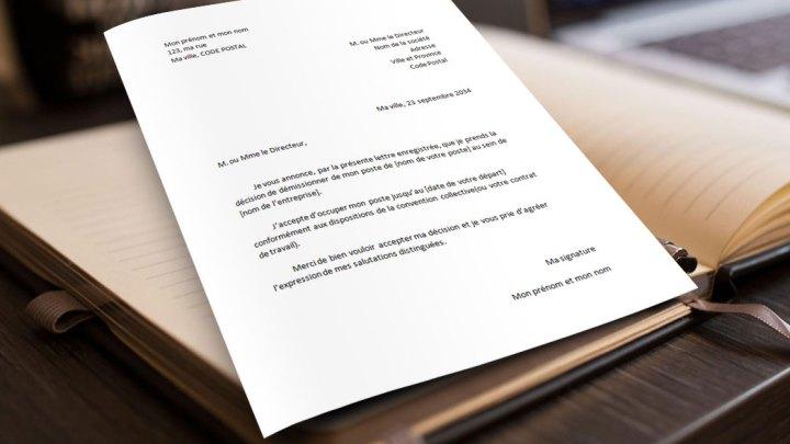 Lettre de Démission Standard