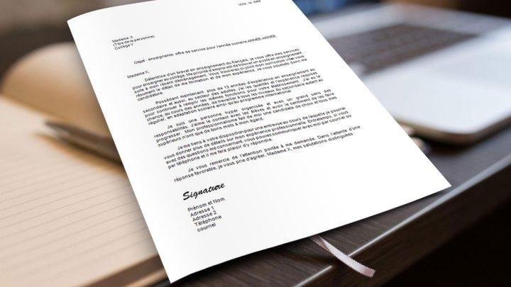 Lettre de motivation | Enseignant (e)