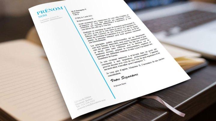 Modèle de Lettre de motivation au Design Professionnel | secrétaire administrative