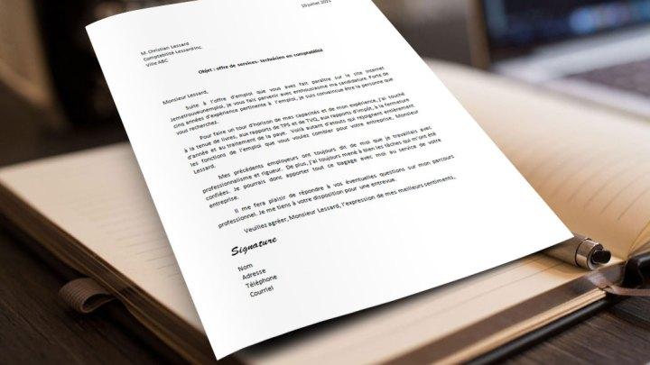 Lettre de motivation | Technicien en comptabilité