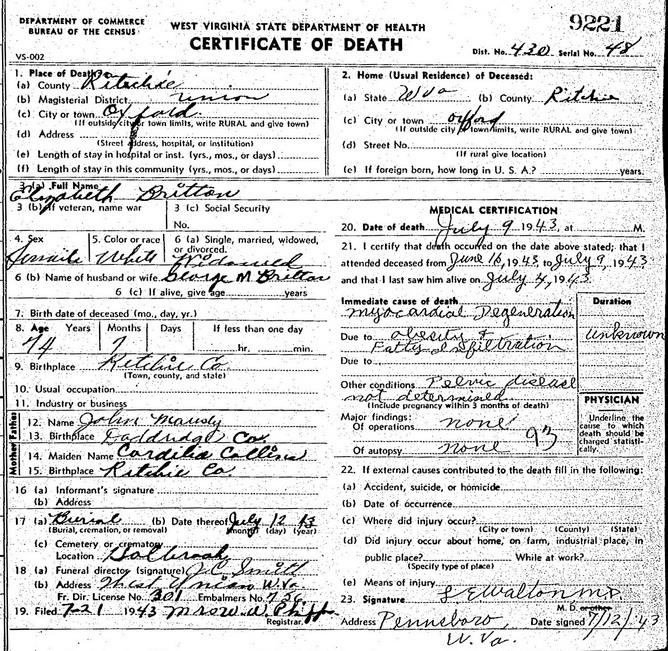 1875 Missouri Birth Certificate