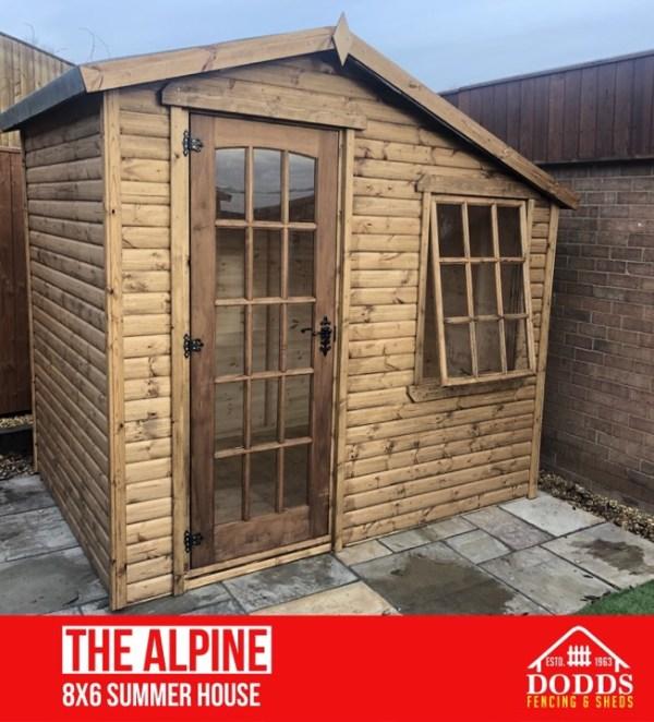 alpine 8' x 6' log lap summerhouse