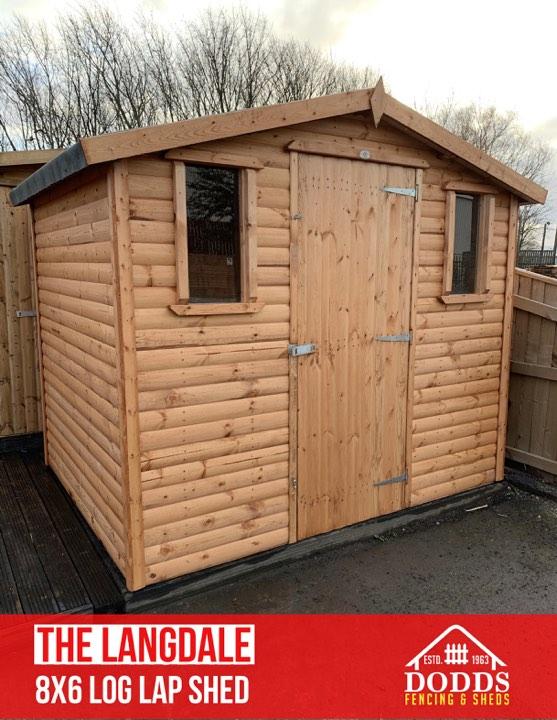 langdale 8' x 6' log lap shed