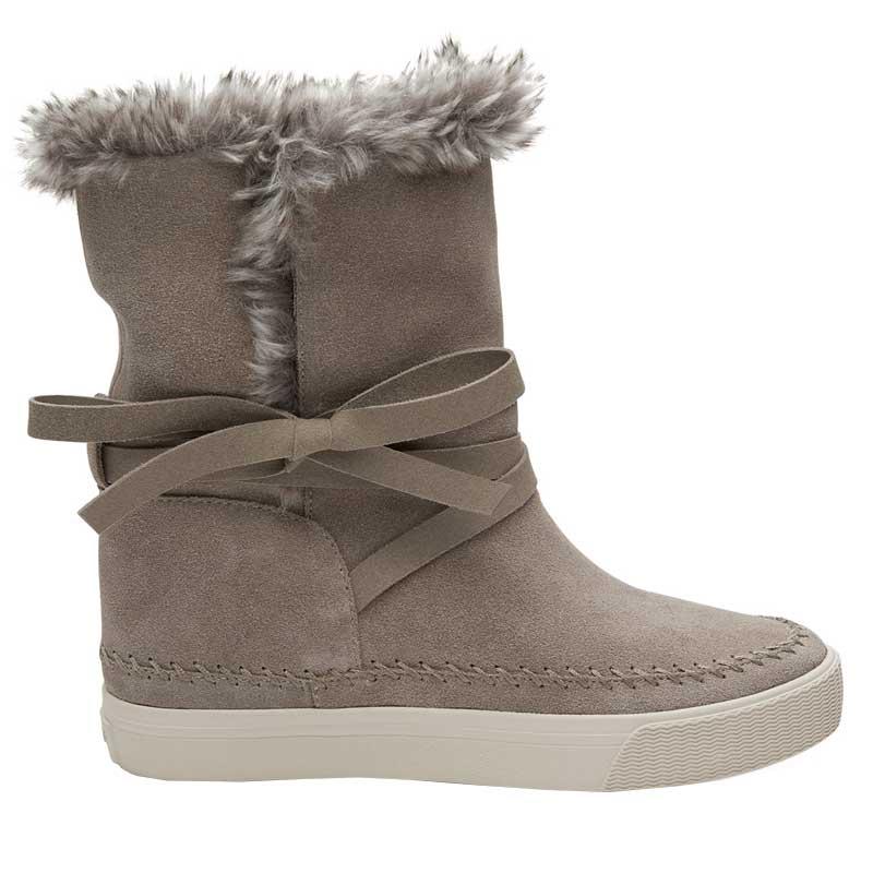 TOMS Shoes Vista Desert Taupe Suede Faux Fur 10010900