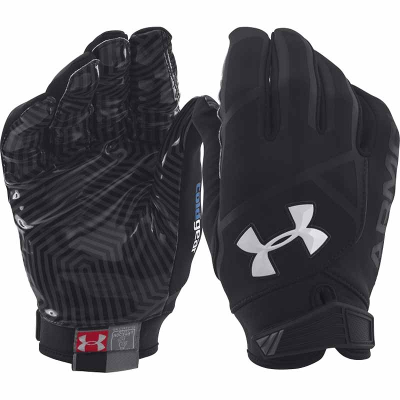 Red And Black Football Gloves