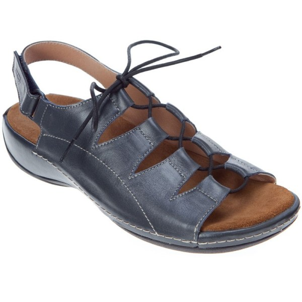 Wolky Kite Navy Smooth Leather 310-382 Women'