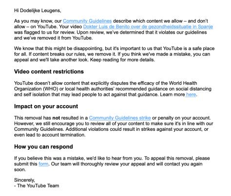 Censuur door YouTube