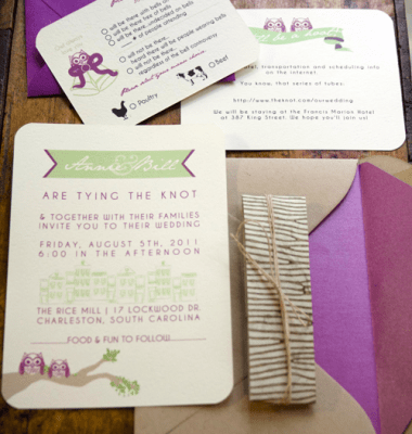 Owl Wedding Invitations Fl Boho Invitation Aqua Blue And Peach Gray Invites Sample