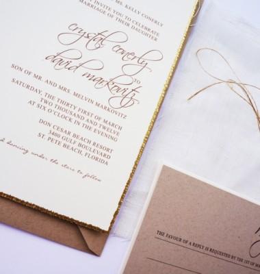 Rustic Beach Sand Dollar Wedding Invitations Announcements